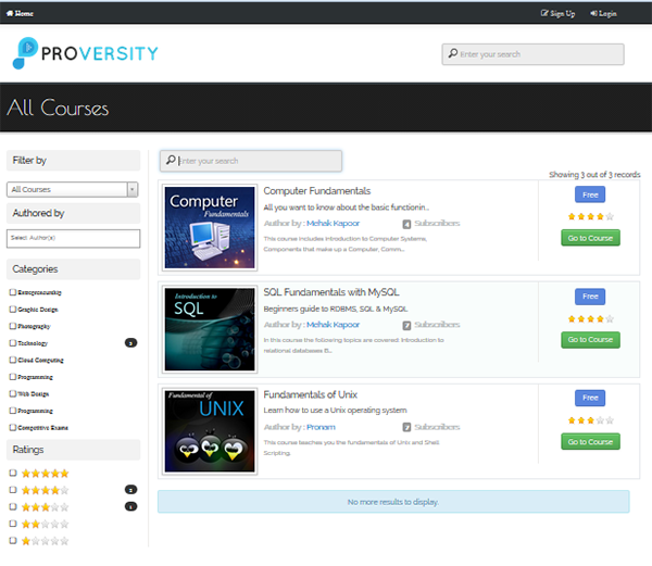 Proversity - All Courses